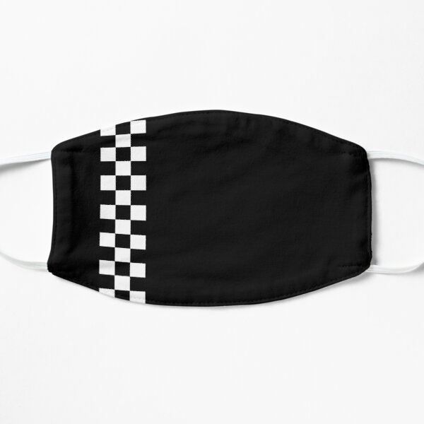 Minimal Peugeot Checkerboard Stripe Design Black Version Mask