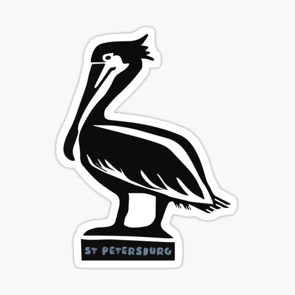 St Petersburg Pelican Sticker