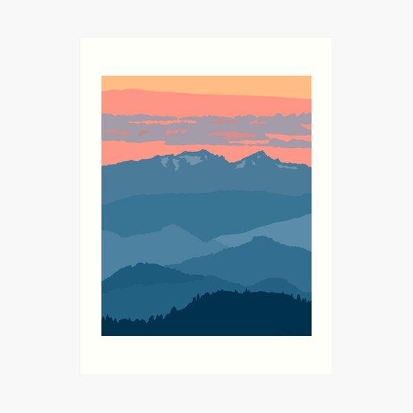 Cascade Mountains Art Print