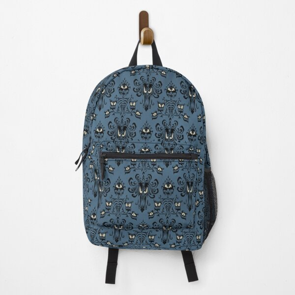 Blue Haunted Mansion Wallpaper Backpack