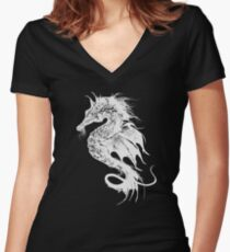 Angry Seahorse Women's Fitted V-Neck T-Shirt