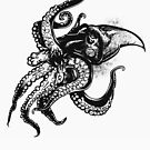 Angry Octopus In Black by pjwuebker