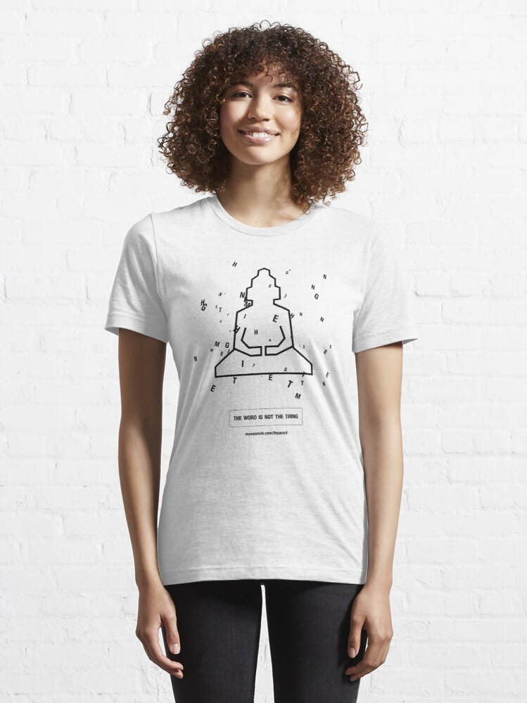 """Alternate view of the word """"enlightenment"""" - black Essential T-Shirt"""
