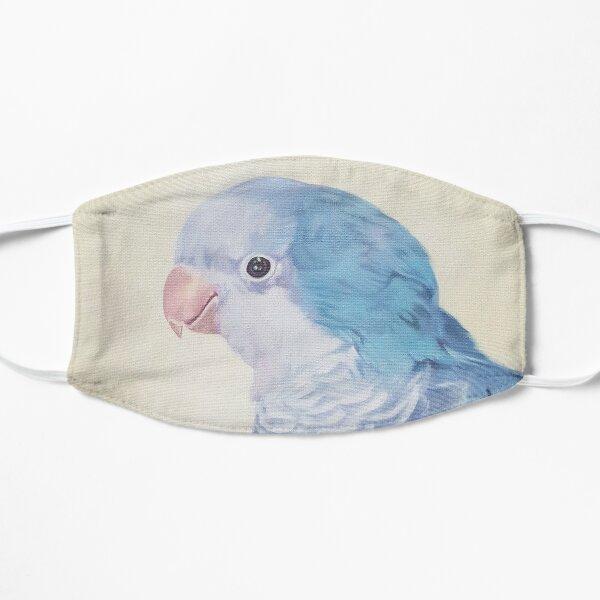 Blue Quaker - pet bird portrait painting Flat Mask
