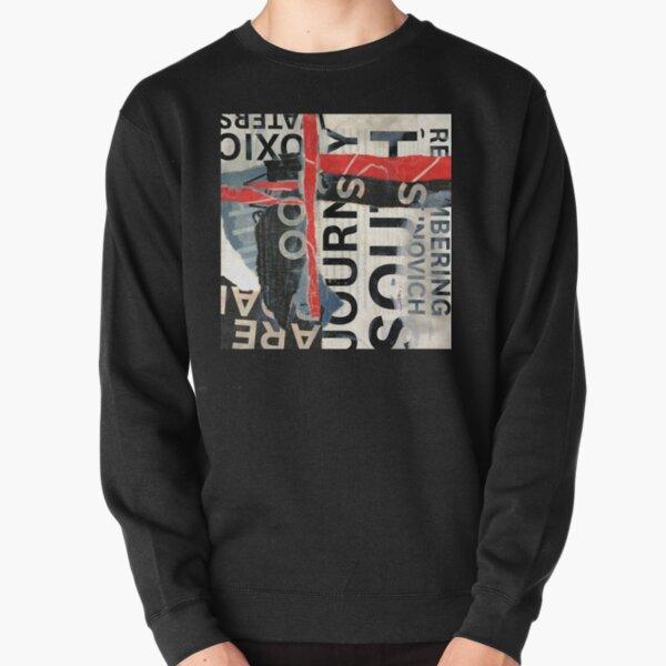 Modern Abstract Collage Design  Pullover Sweatshirt