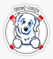 Great Pyrenees :: First Mate Sticker