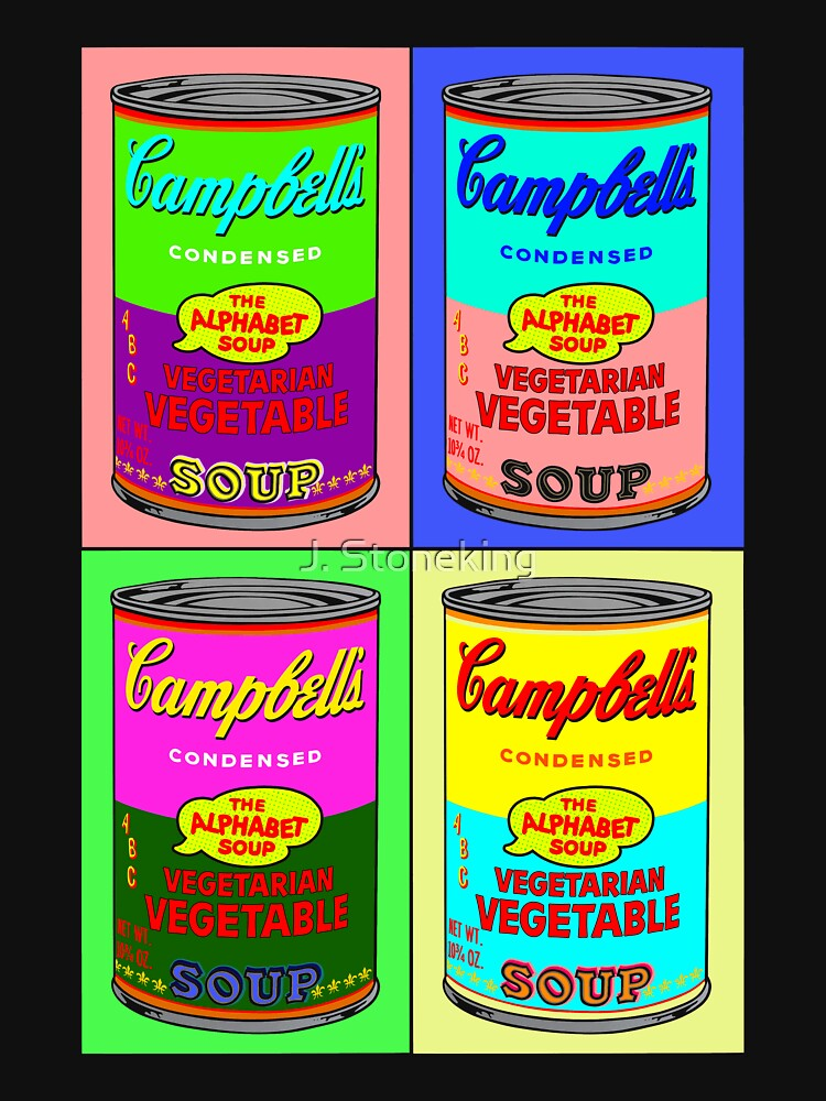 Vegetarian Campbell's Warhol Tribute | Unisex T-Shirt