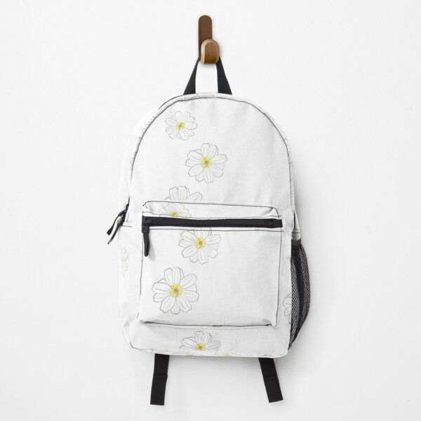 White Zinnia Flower Backpack