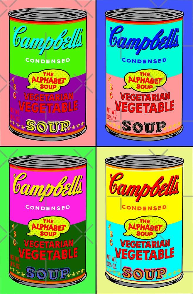 Vegetarian Campbell's Warhol Tribute by J. Stoneking