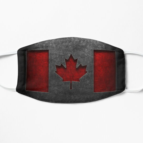 Canadian Flag Stone Texture Flat Mask