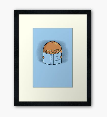 Orange Concentrate Framed Print