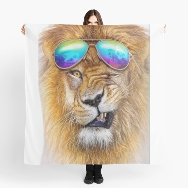 lion animal glasses bezel Scarf
