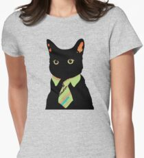 Business Cat Women's Fitted T-Shirt