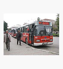The bus in Adana Photographic Print