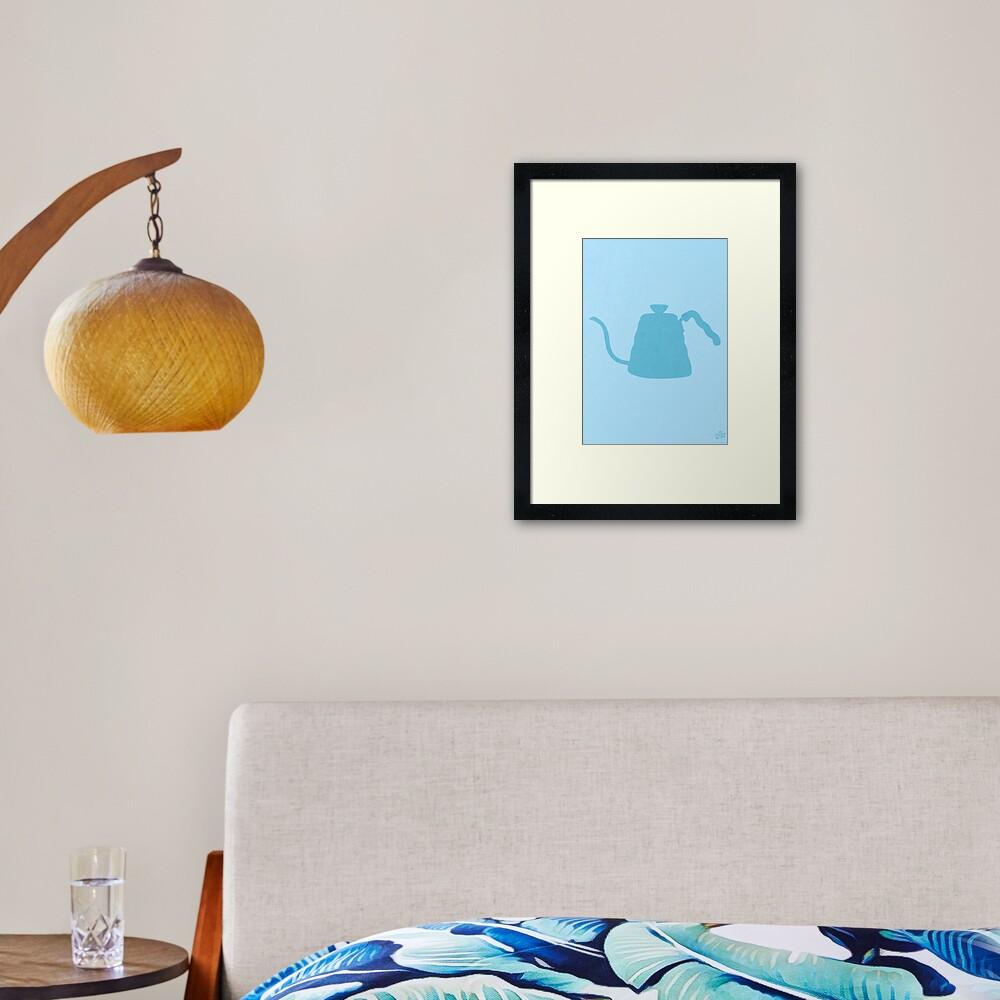 The Brew Series: HARIO KETTLE Framed Art Print