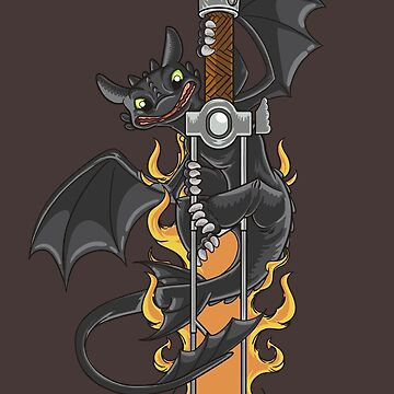 Toothless & Sword Tat by pixeldave