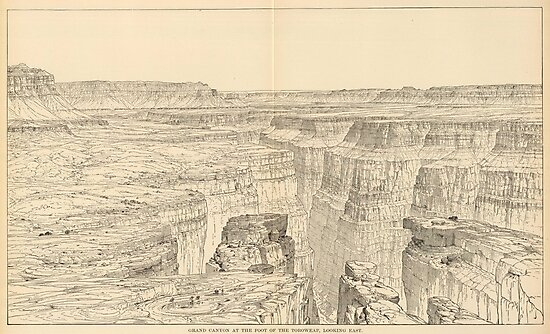 Vintage Pictorial Map of The Grand Canyon (1895) by alleycatshirts