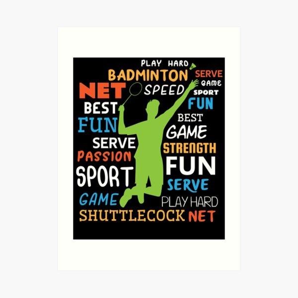 Badminton Players Art Print