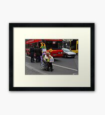 man on wheelchair Framed Print