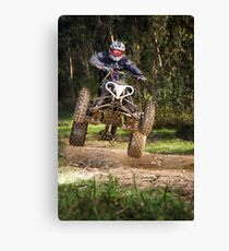 Quad rider jumping Canvas Print