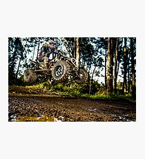Quad rider jumping Photographic Print