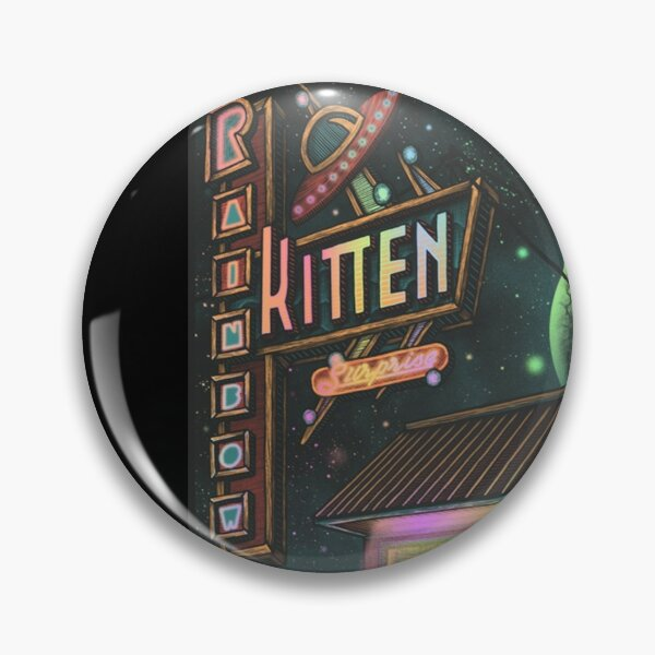 Good Music Rainbow Kitten Surprise Band Pin