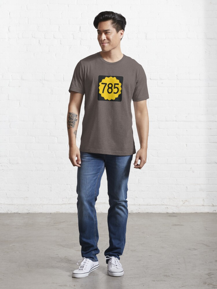Kansas State Route 785 (Area Code 785) T-shirt by SRnAC