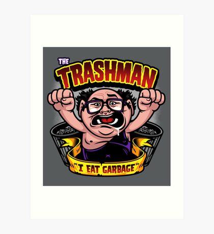 The Trashman Art Print