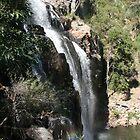 Waterfall with rainbow - two. by Wolska