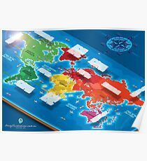 World Map in Isometric Poster