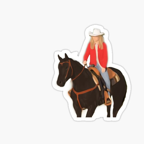 Amy and Spartan from Heartland Sticker