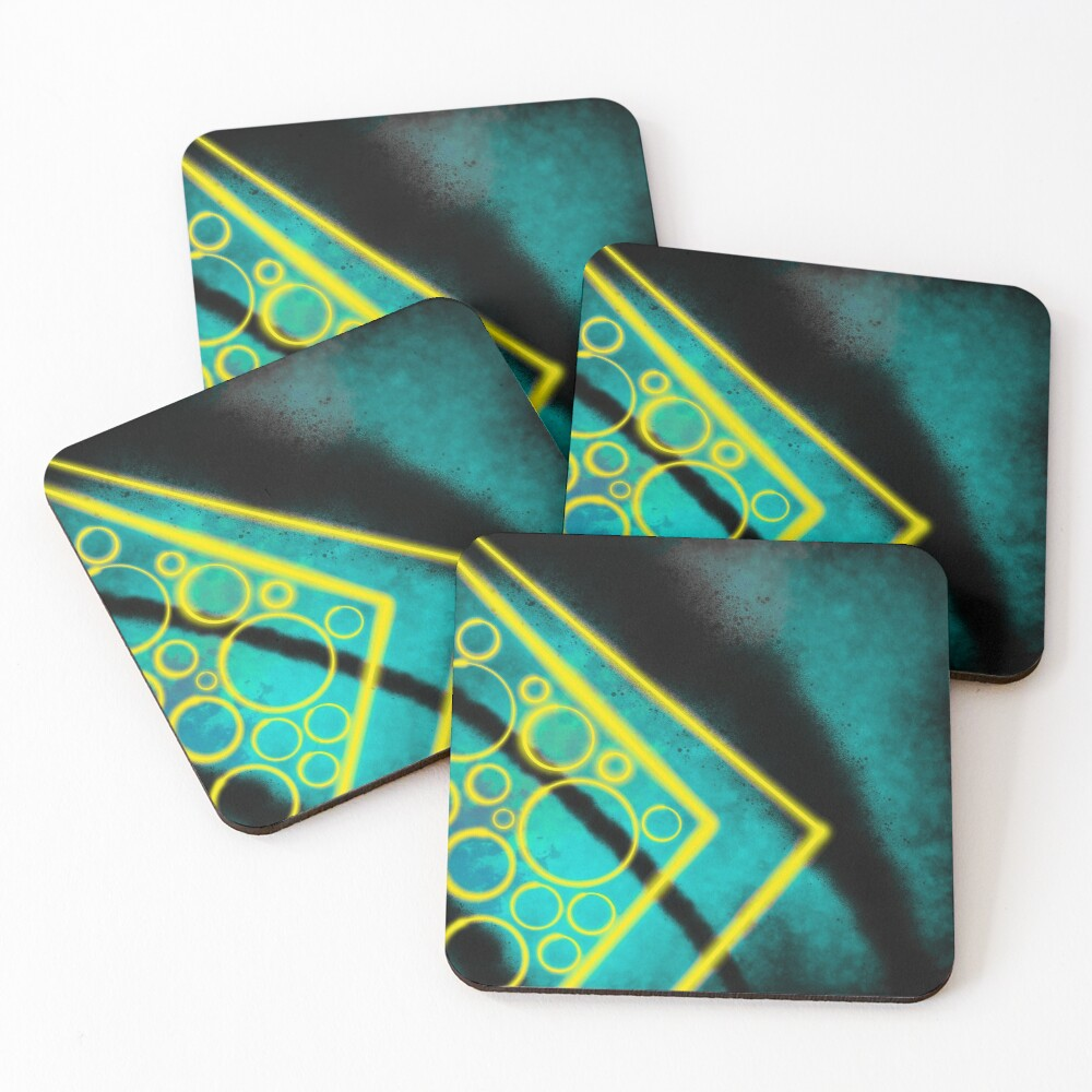 Now Neon Coasters (Set of 4)