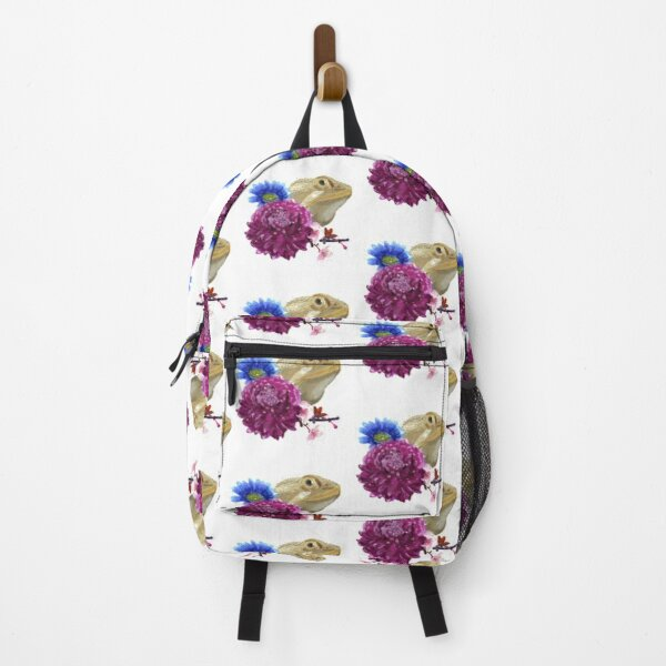 Bearded Dragon Floral Backpack