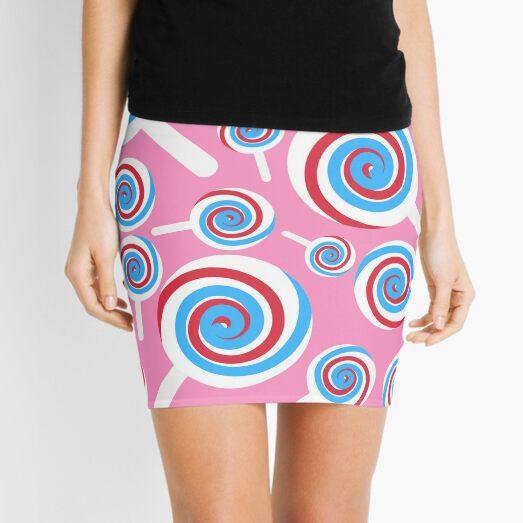 Lollipop Pattern pink Mini Skirt