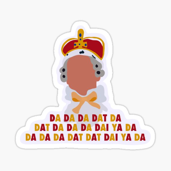 Hamilton King George Sticker