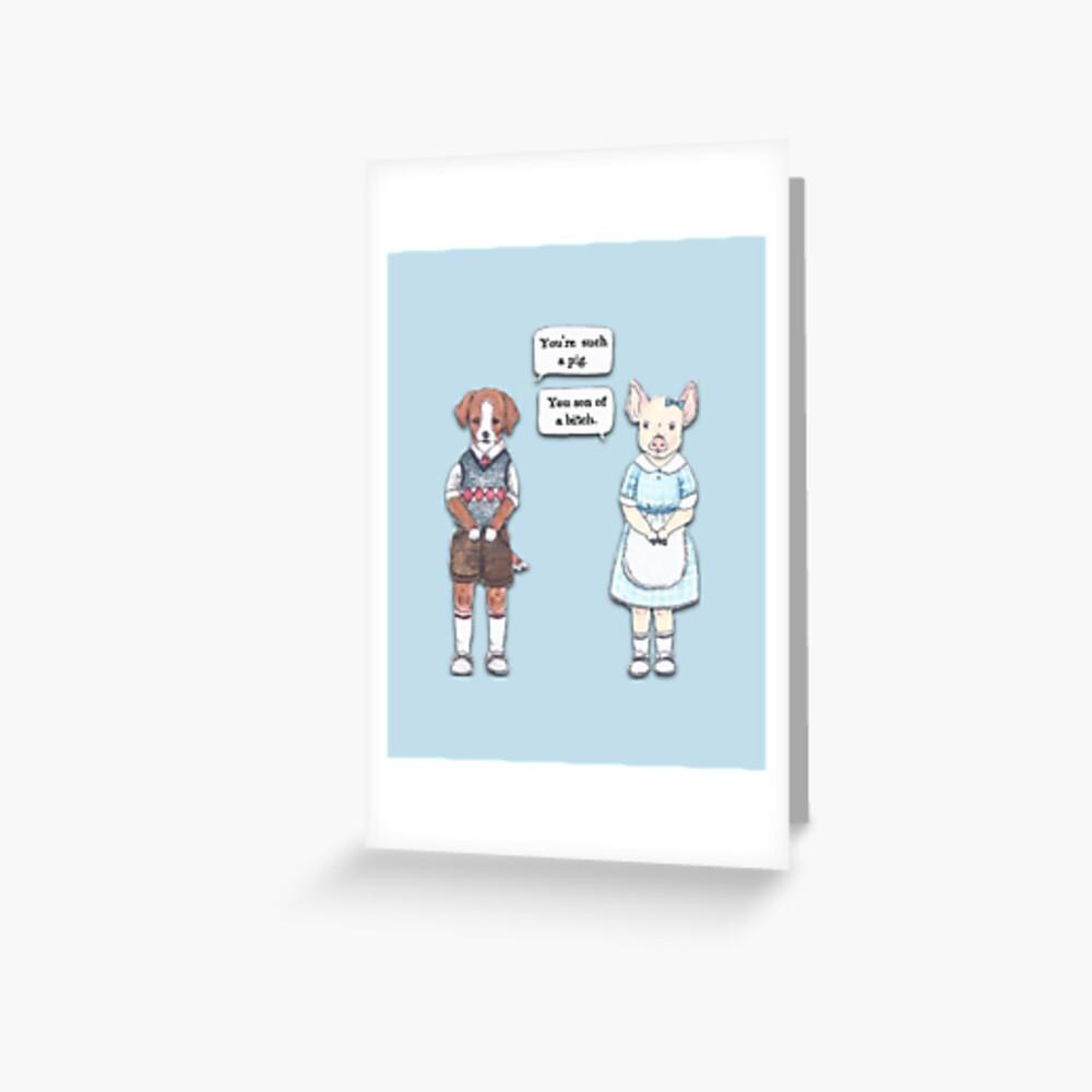 Animal Puns Greeting Card