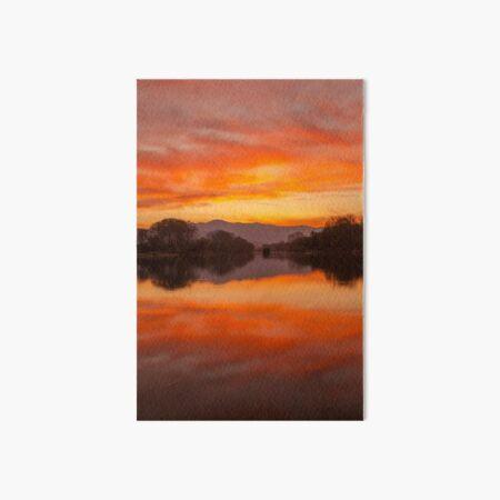 Sunset on the Pollu Pond Art Board Print