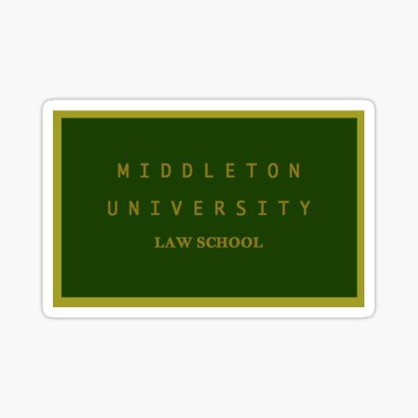 École de droit de Middleton Sticker Sticker
