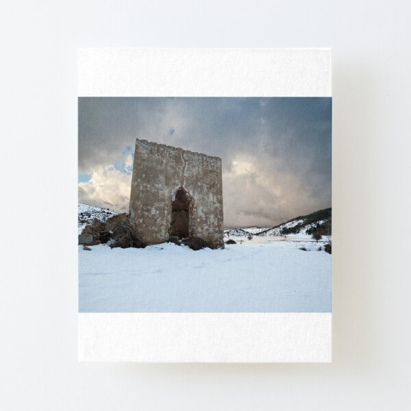 Ruin in the mountains Canvas Mounted Print