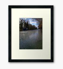 Frozen Canal in Berkshire Framed Print