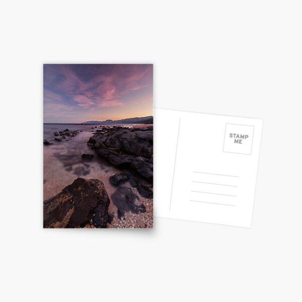 Rocky part of Barisardo Beach Postcard