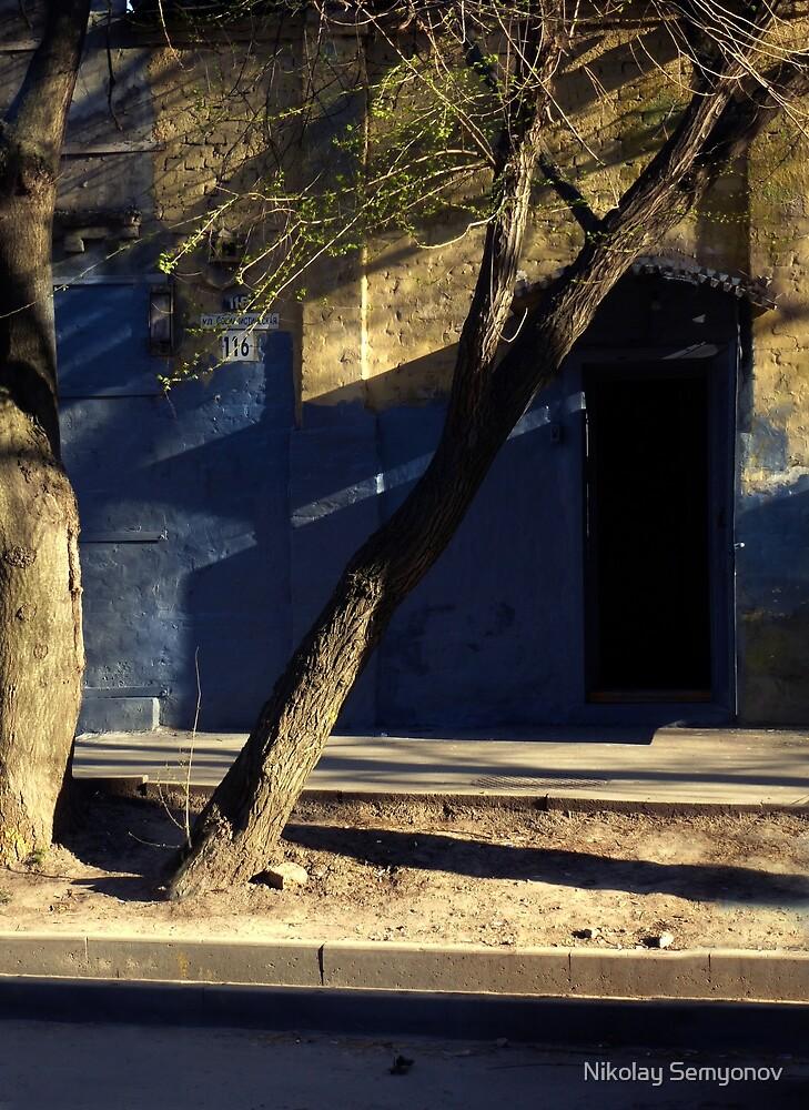 old bakery. blue shadows by Nikolay Semyonov