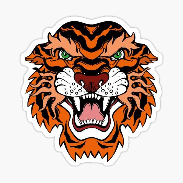 Colorful Tiger Design  Sticker