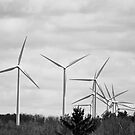Windmills in Centralia, PA by Penny Fawver