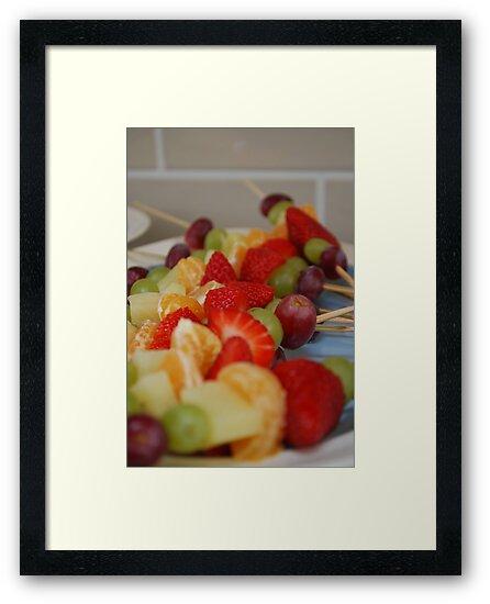 Rainbow Coloured Fruit Kebabs by Geraldine Miller