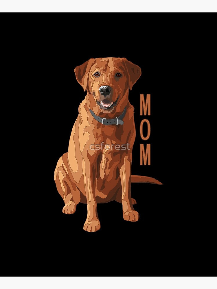 Lab Mom Fox Red Labrador Retriever Dog by csforest