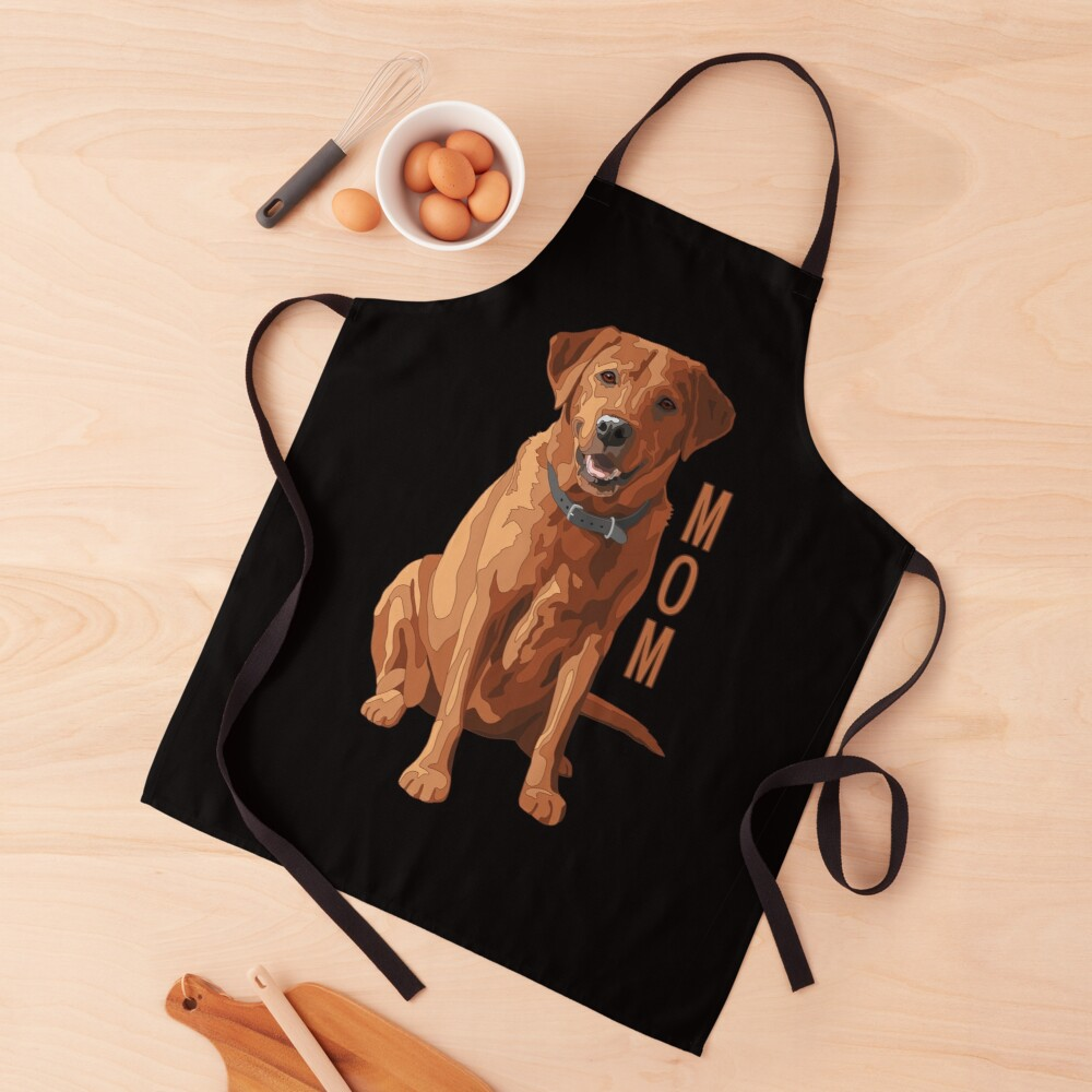Lab Mom Fox Red Labrador Retriever Dog Apron