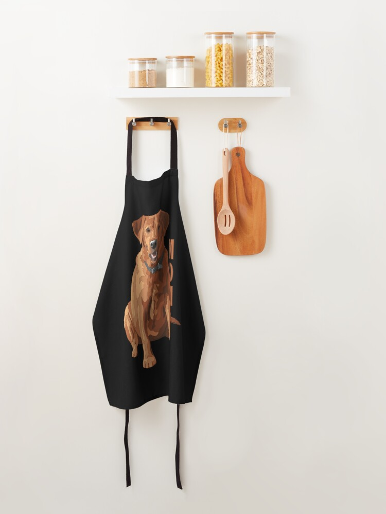Alternate view of Lab Mom Fox Red Labrador Retriever Dog Apron