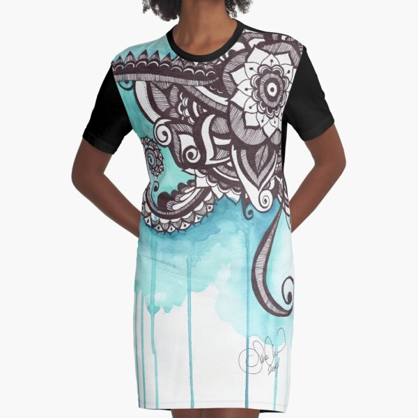 Drip Graphic T-Shirt Dress