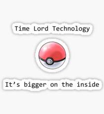 Time Lord Technology Pokeball Sticker
